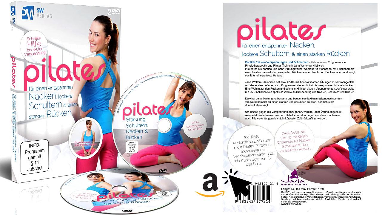 2 DVDs Pilates - für einen entspannten Nacken, lockere Schultern & starken Rücken