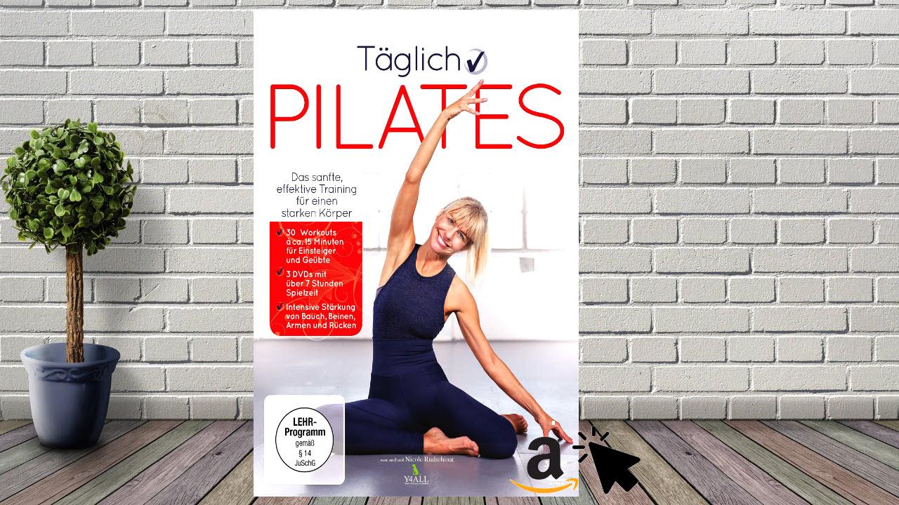3 DVDs Täglich Pilates - 30 Workouts mit Übungen für Anfänger & Fortgeschrittene