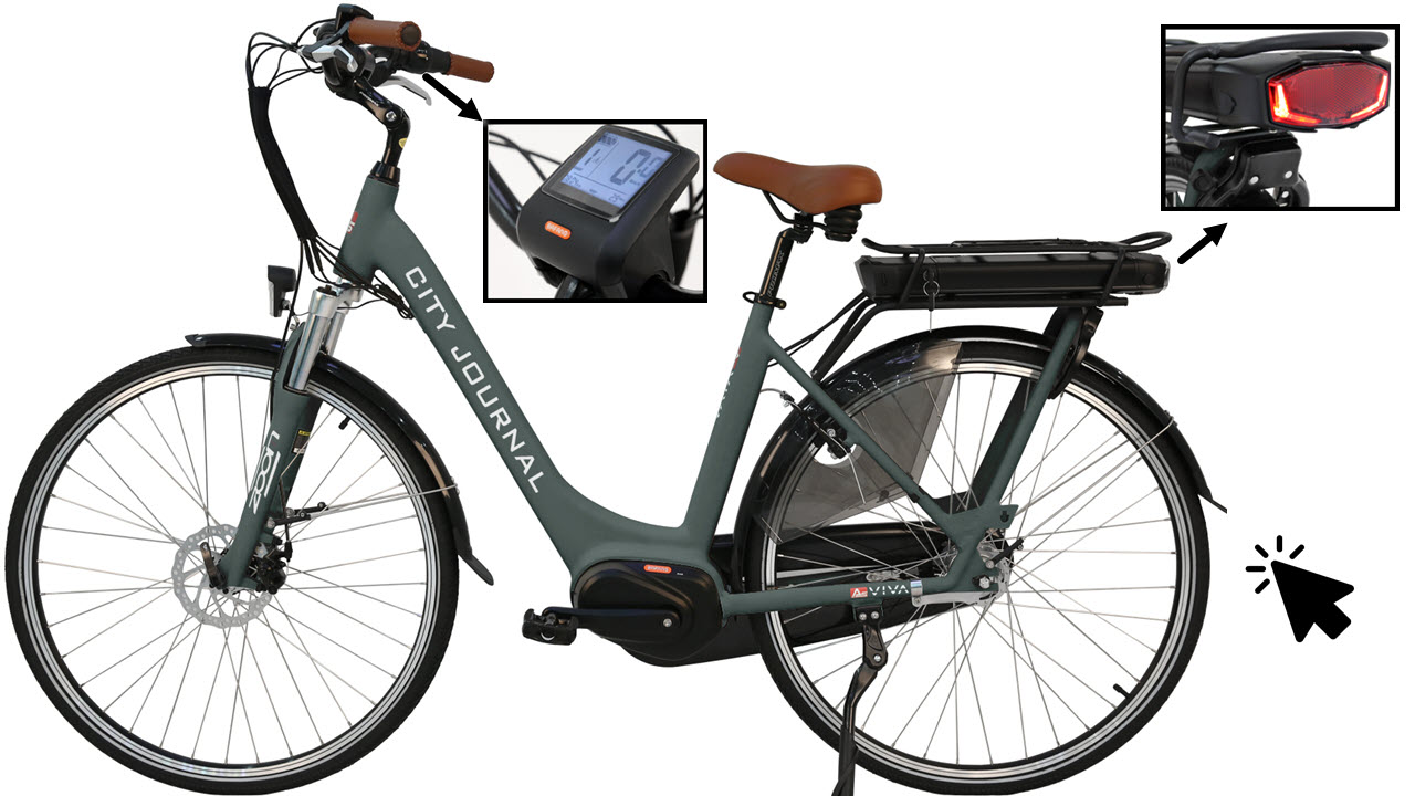 AsVIVA Hollandrad E-Bike Tiefeinsteiger