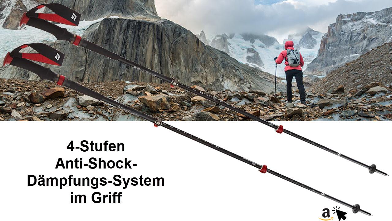Black Diamond Trail Pro Shock Wanderstöcke - Trekkingstöcke mit Dämpfung