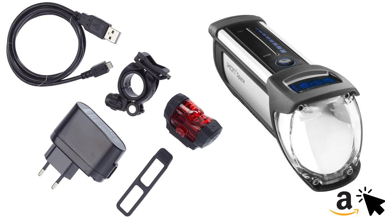 Busch & Müller Ixon Space Akku Led Scheinwerfer mit USB-Ladefunktion
