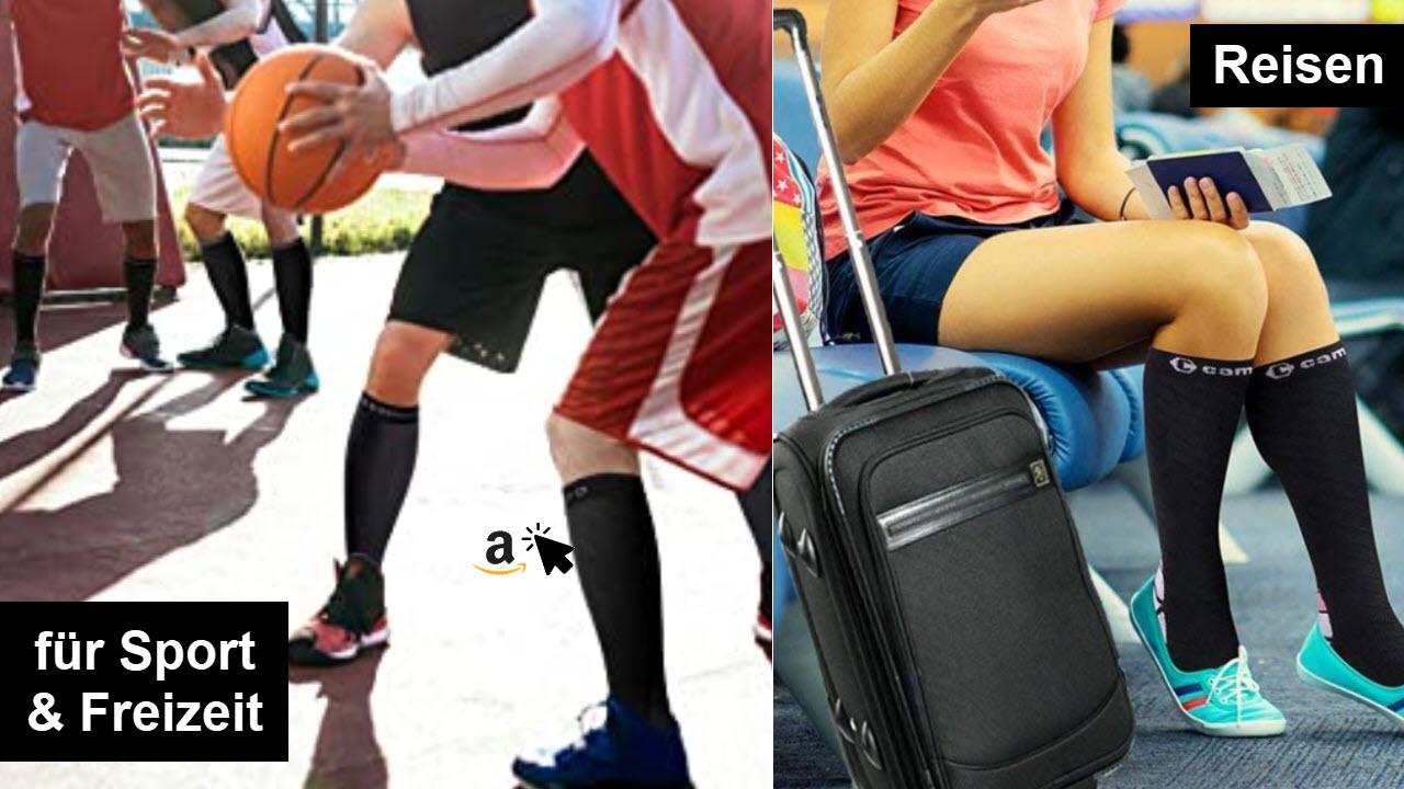 CAMBIVO Kompressionsstrümpfe Damen und Herren Kompressionssocken Thrombosestrümpfe für Laufen, Sport, Flug, Reise, Radsport, Durchblutung, Schwangerschaft, Krankenschwestern