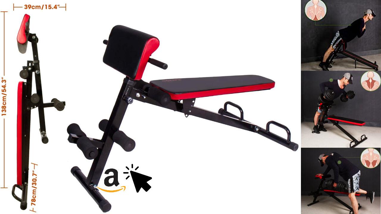 CCLIFE Hantelbank klappbar Rückenstrecker Hyperextension Rückentrainer
