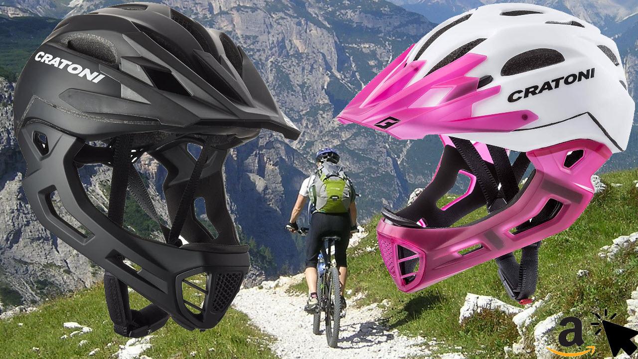 Cratoni Fahrradhelm C-Maniac Mountainbike Helm mit abnehmbarem Kinnschutz