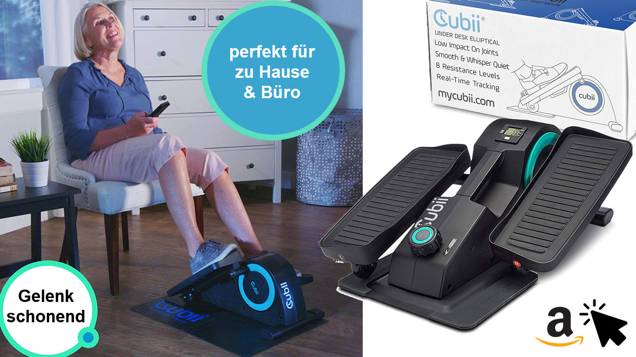 Cubii Jr Tisch Ellipsentrainer Bewegungstrainer Beintrainer
