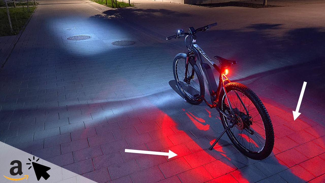 FISCHER LED-Akku Beleuchtungsset mit 360° Bodenleuchte für mehr Sichtbarkeit