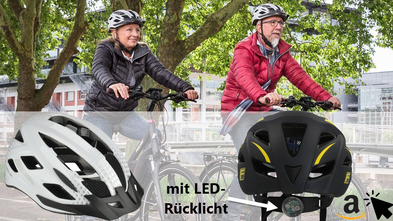 Fischer Stadt Fahrradhelm für Damen & Herren mit Rücklicht