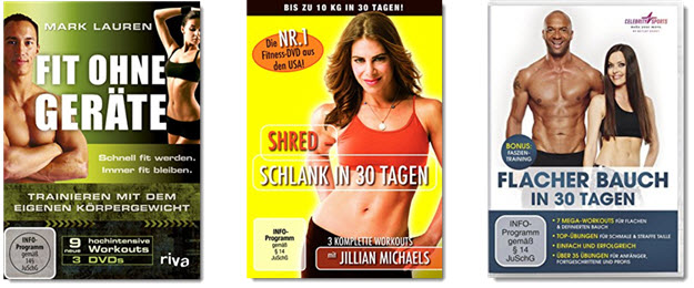 Fitness DVDs - Fitness ohne Sportgeräte