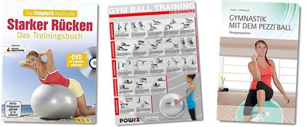 Fitnessball Übungen für Rücken, Bauch, Beine, Po