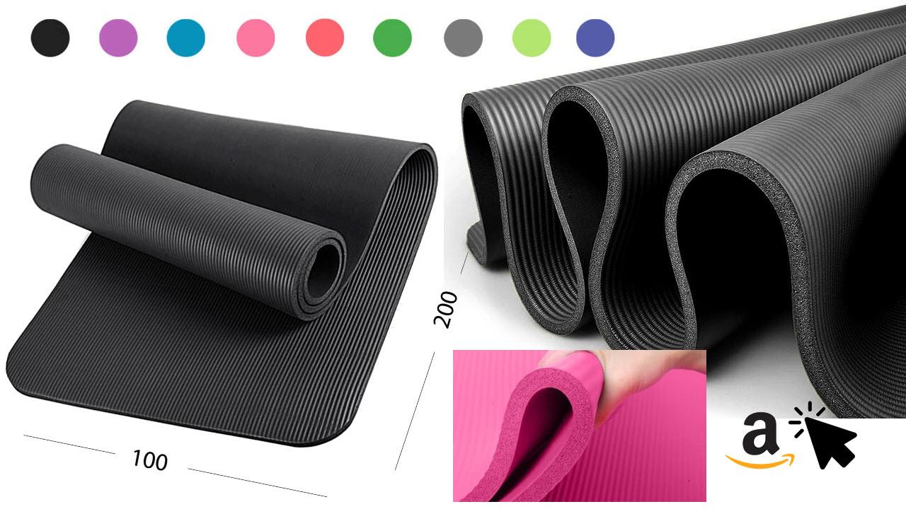 Glamexx24 XXL Fitnessmatte 100x200cm 1,5cm dick