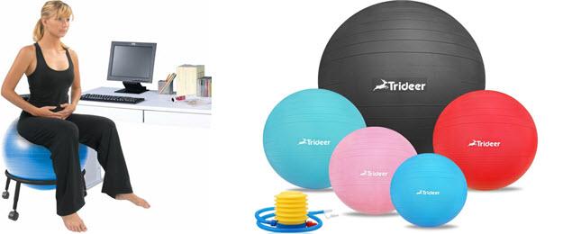 Ballstuhl, Sitzball & Gymnastikball Größen