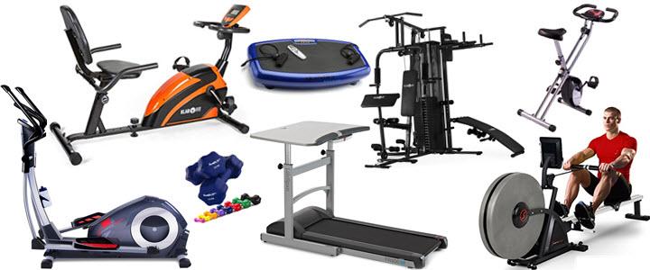 Heimtrainer, Laufband, Liegeergometer, Crosstrainer, Hanteln, Kraftstation, Vibrationstrainer
