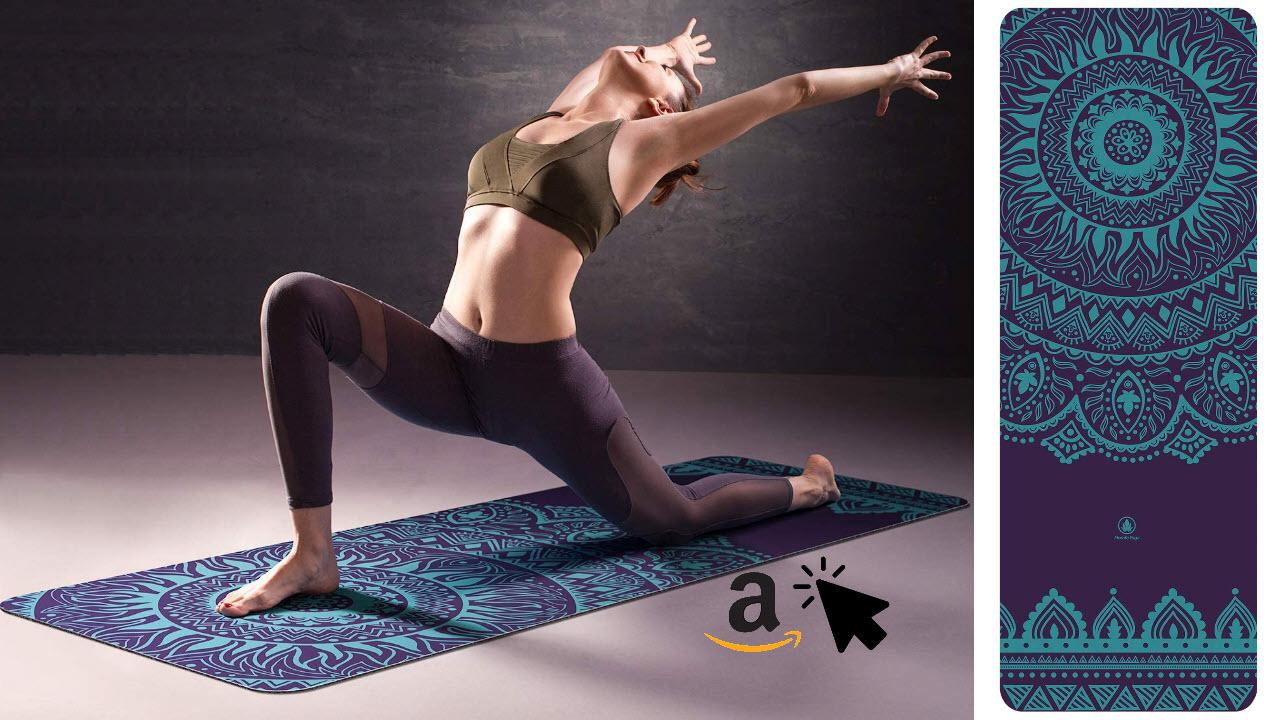 Homfa Yoga Matte aus Natuarkatschuk mit Muster