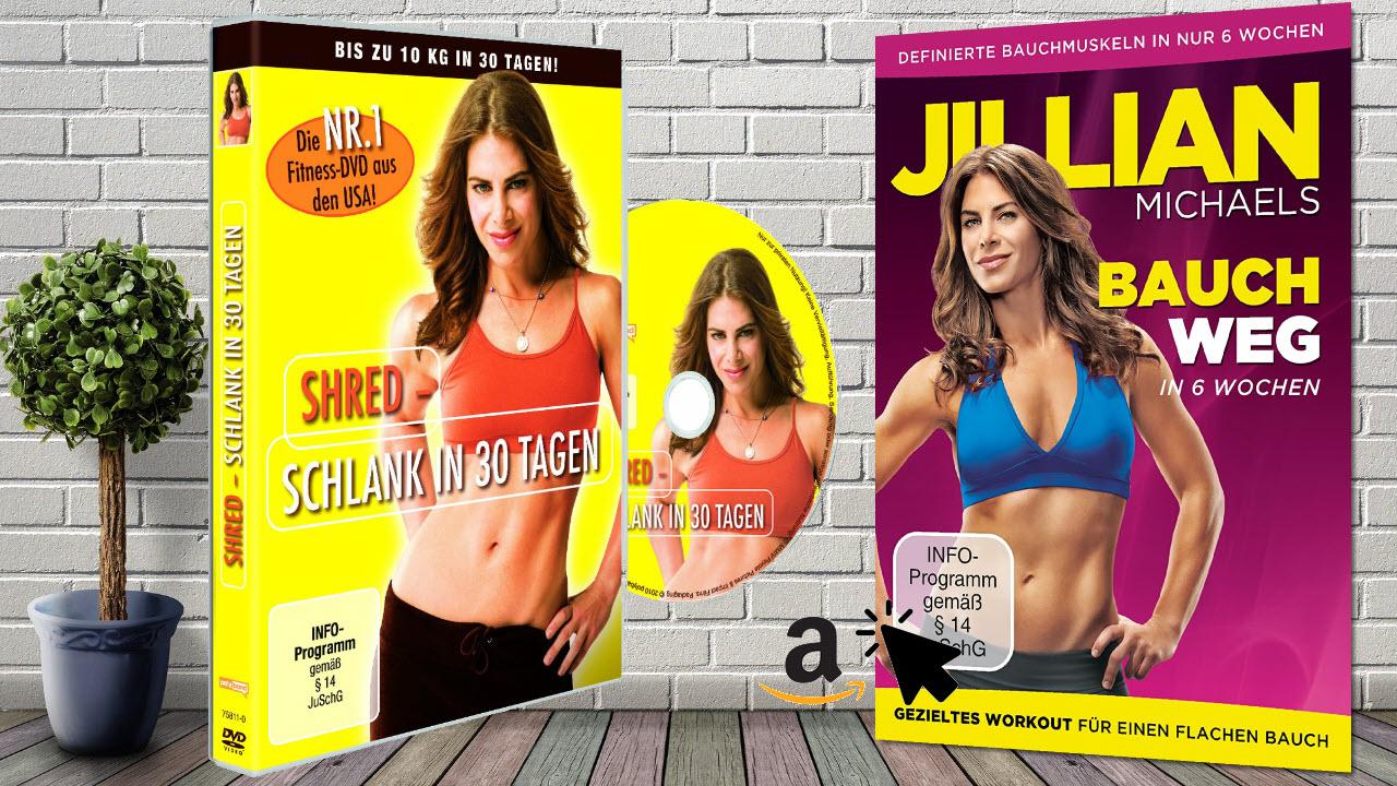 Jillian Michaels - Aerobic Cardio DVDs - Shred & Bauch Weg