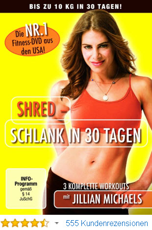 Jillian Michaels - Shred Aerobic Fitness Video DVD für zuhause