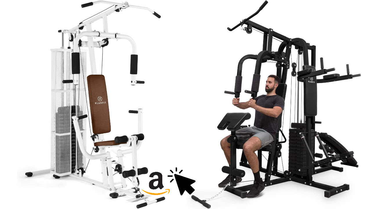 Klarfit Ultimate Gym Kraftstation - multifunktionale Trainingsstation Ganzkörpertraining