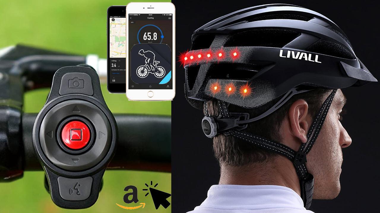 LIVALL MT1 Smart-Fahrradhelm mit Blinker, Rücklicht, Musik, Navigation, Anruffunktion & SOS-System