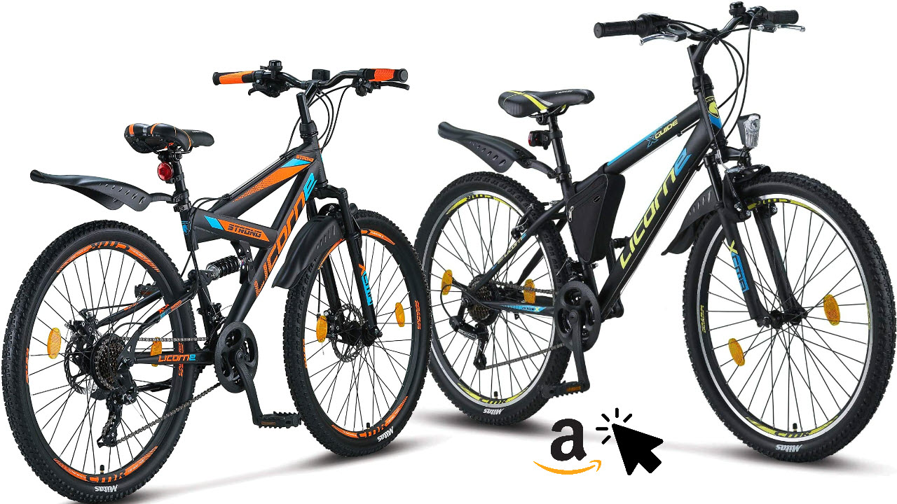 Licorne Bike 26 Zoll Jungen-Mountainbike Strong Guide
