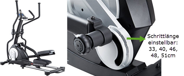 MAXXUS CX 7.4 Ellipsentrainer mit Schrittlängenverstellung für kleine & große Personen geeignet