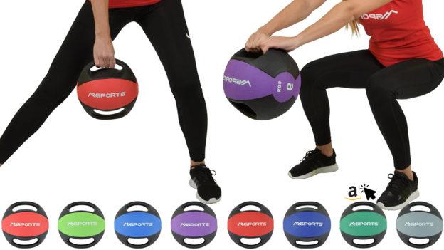 MSPORTS Medizinball mit Griff 1–10 kg Gymnastikbälle