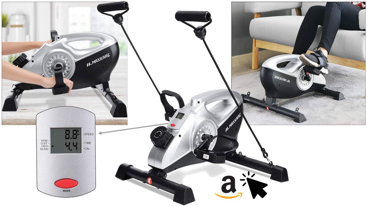 MaxKare Arm und Bein Bewegungstrainer Pedaltrainer mit Magnetbremssystem