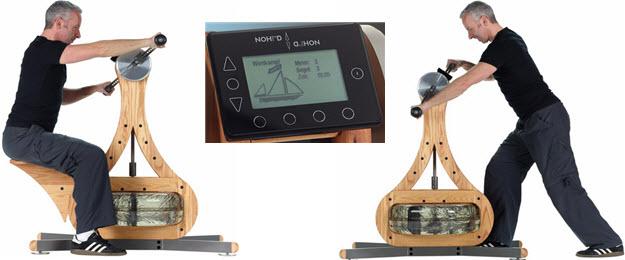 NOHrD WaterGrinder Oberkörpertrainer Rudergerät