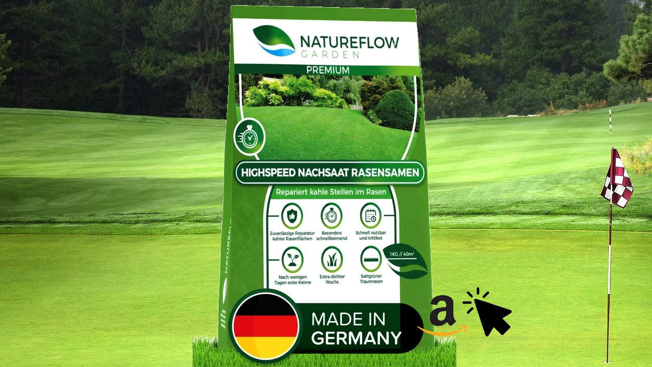 Natureflow Premium Rasen Nachsaat Traumrasen