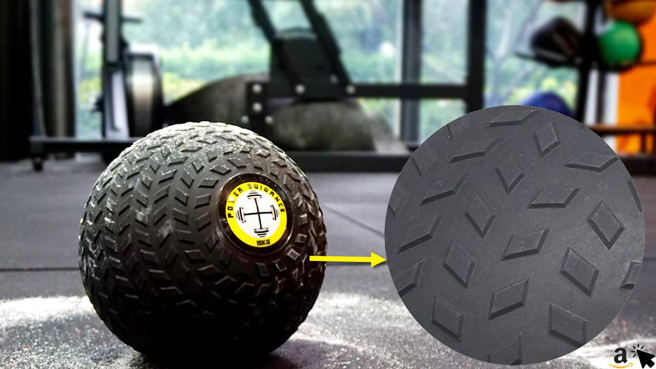 POWER GUIDANCE Medizinball Fitnessball Trainingsball mit griffiger Noppen Oberfläche