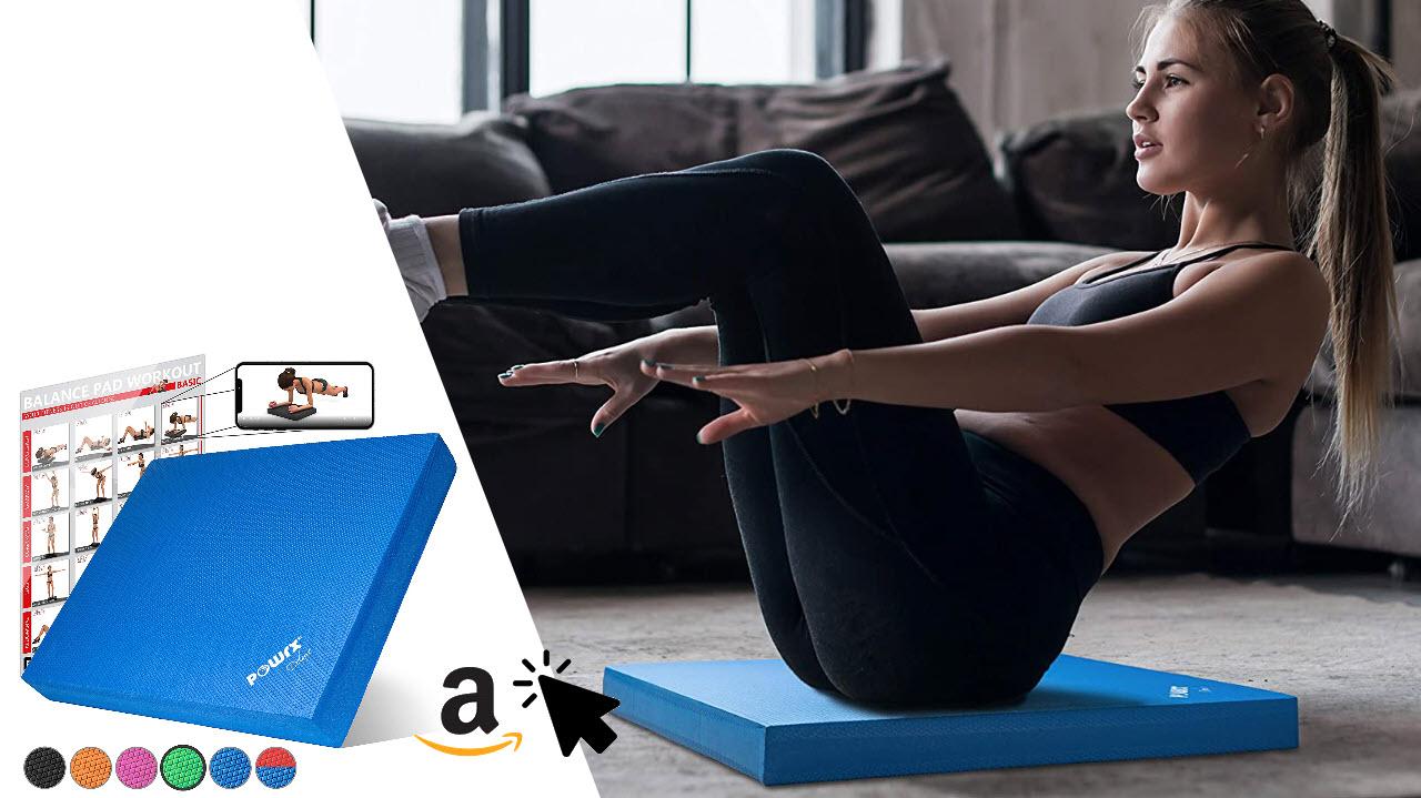 POWRX Balance Pad 40x34x5cm mit Übungen