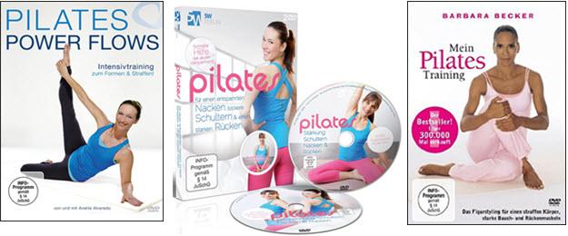 Pilates Übungen Video DVDs für Anfänger & Fortgeschrittene mit guten Test-Erfahrungsberichten