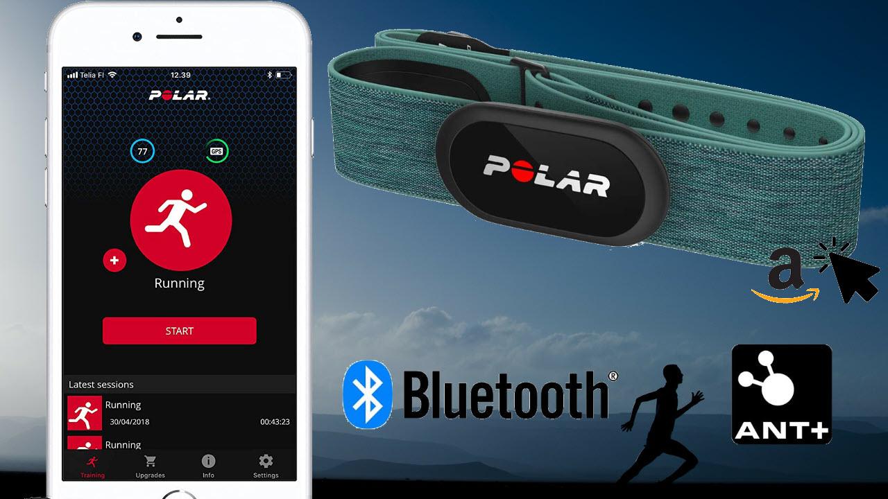Polar H10 Wasserdichter Herzfrequenz-Sensor ANT+ Bluetooth EKG mit Brustgurt