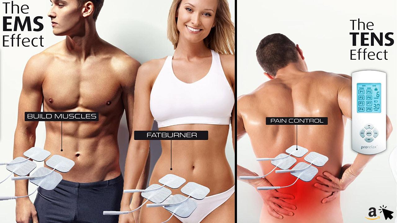 Prorelax TENS & EMS Duo Comfort Gerät - gegen chronische Schmerzen & zum Muskelaufbau