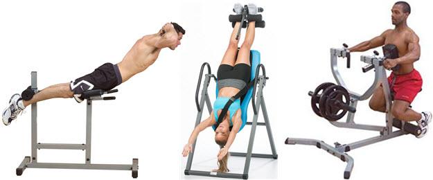 Rückentrainer, Ruderstation, Schwerkrafttrainer Varianten im Test Vergleich