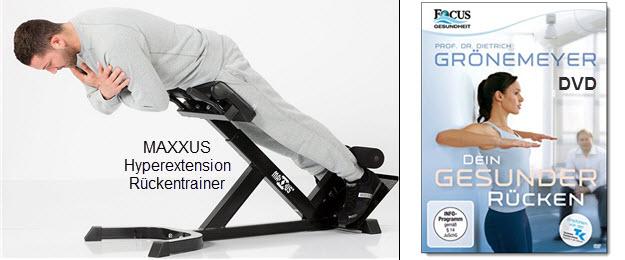 Rückentrainer Fitnessgeräte und Rücken Übungen DVD
