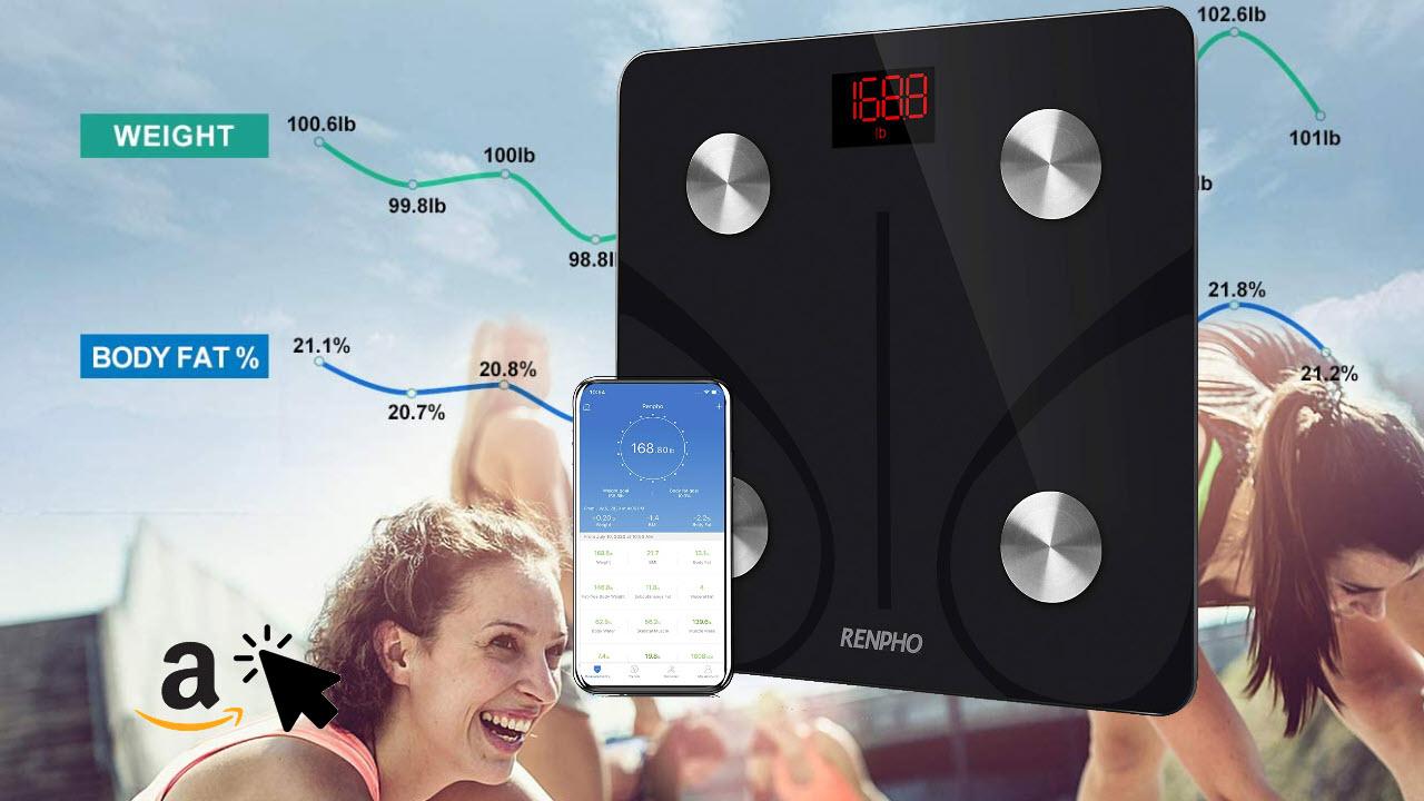 RENPHO Smart-Körperfettwaage Bluetooth Körperanalysewaage mit App