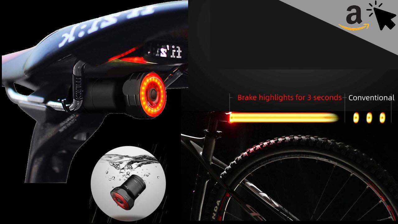 SILVIA Smart Fahrrad Bremslicht LED USB Rücklicht IPX65 wasserdichte