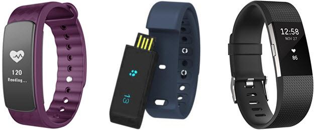 Activity Tracker Schrittmesser mit Armband von LINTELEK, endubro und Fitbit