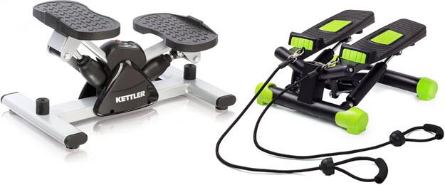 Side Stepper von Kettler und Fitkraft mit Trainingsbändern & Computer