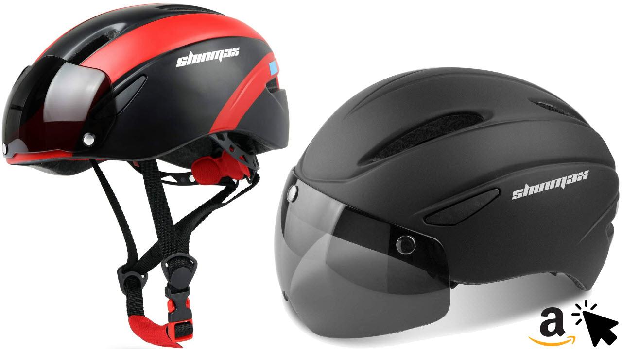 Shinmax Fahrradhelm mit Abnehmbarem Visier Schutzbrille