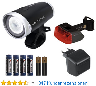 Sigma Lichtster Akku LED Fahrradbeleuchtung Komplett Set