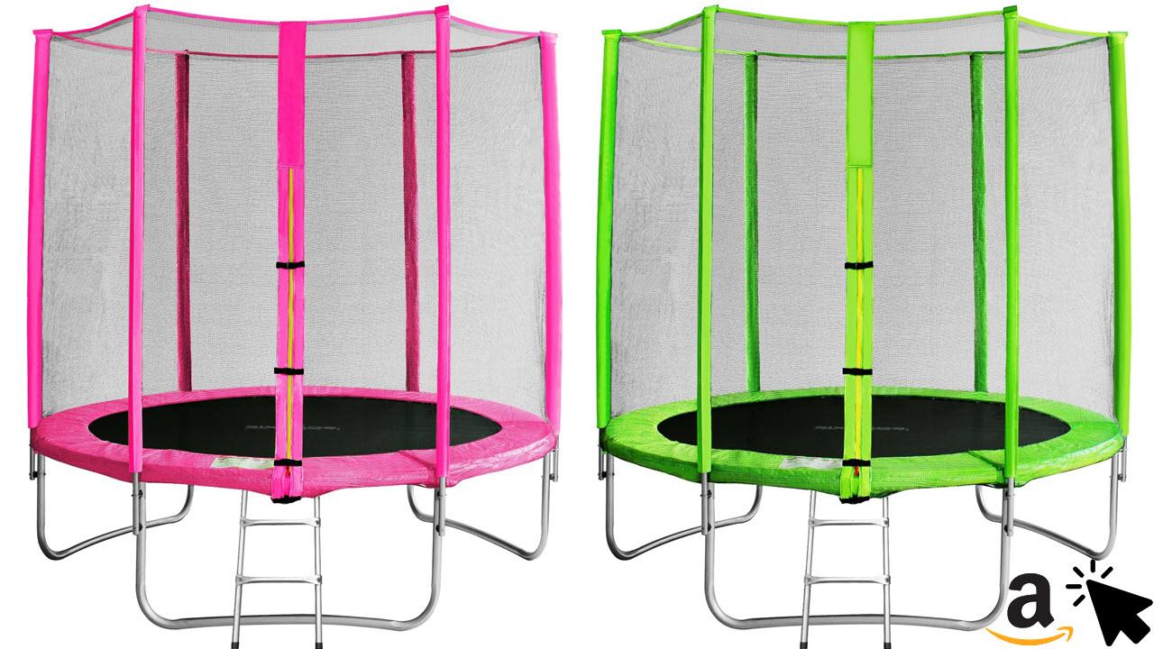 SixBros SixJump Outdoor Gartentrampolin Kindertrampolin für den Garten 185 - 405cm