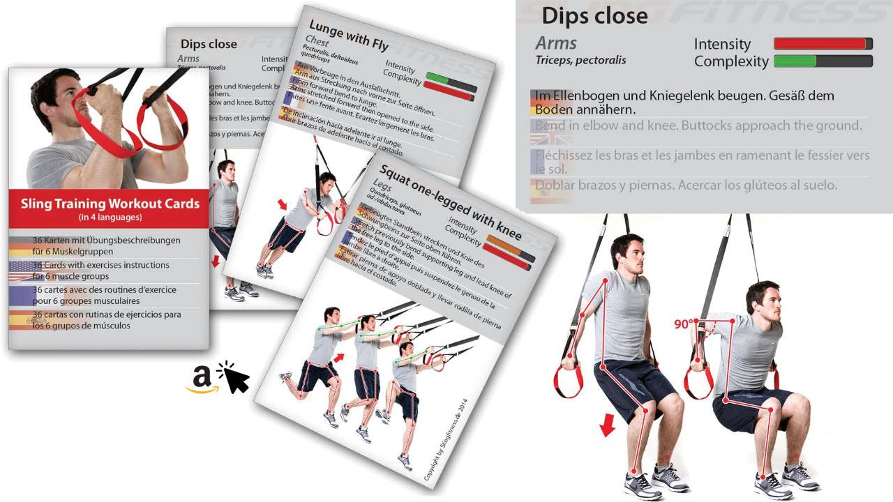 Slingtrainer Übungen Trainingsplan und Workoutkarten Schlingentraining