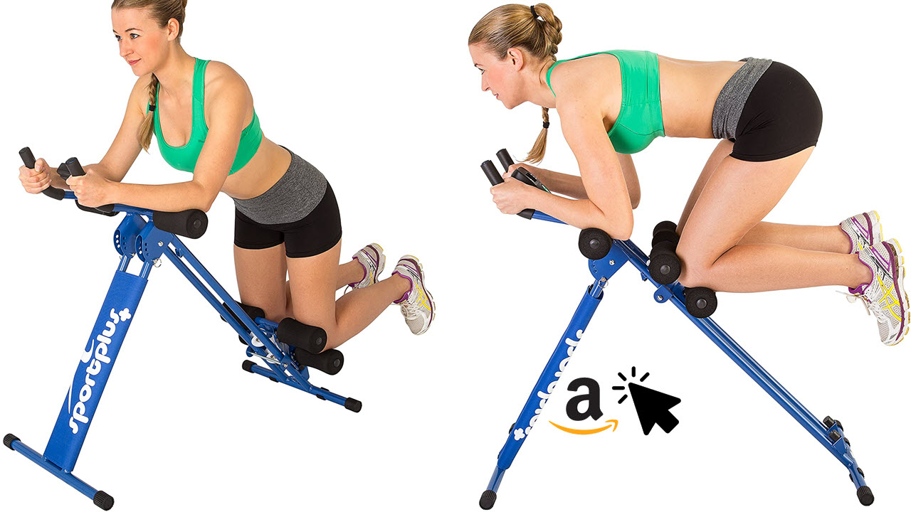 SportPlus Bauchmuskeltrainer klappbar für zuhause
