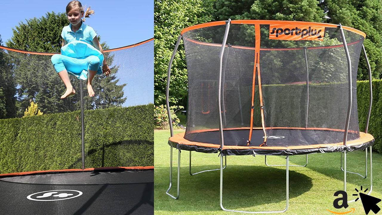 SportPlus Gartentrampolin Outdoor Trampolin für Kinder & Erwachsene