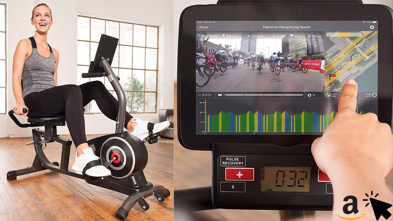 SportPlus Liegeergometer mit App-Steuerung