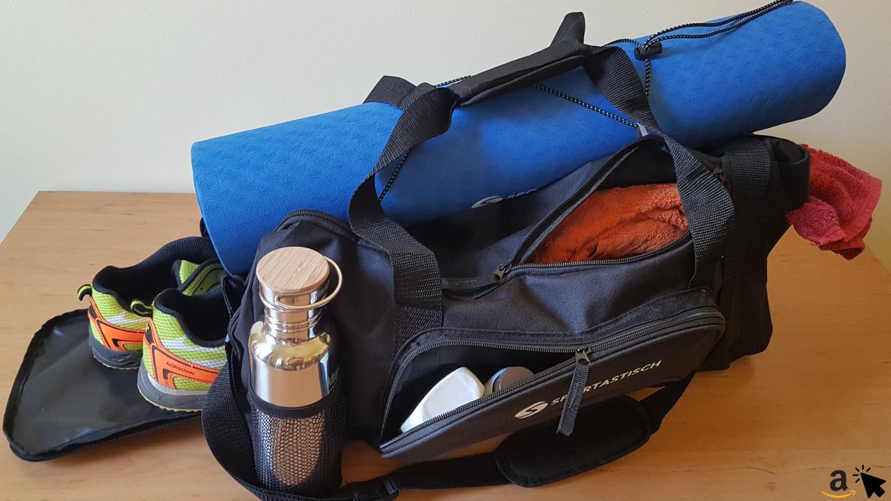 Sportastisch Sporttasche mit Schuhfach, Nassfach & Yogamatten Halterung