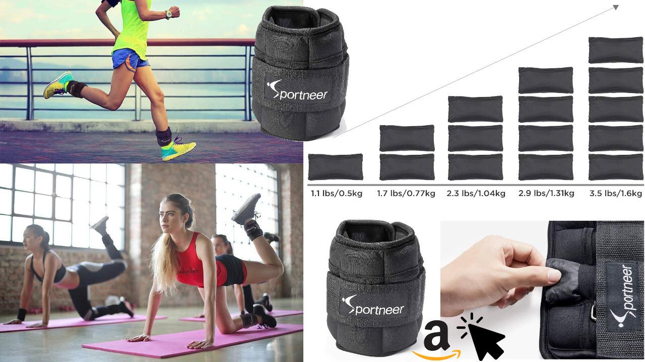 Sportneer Verstellbares Gewichtsmanschetten Set Fußgelenkgewichte Handgelenkgewichte