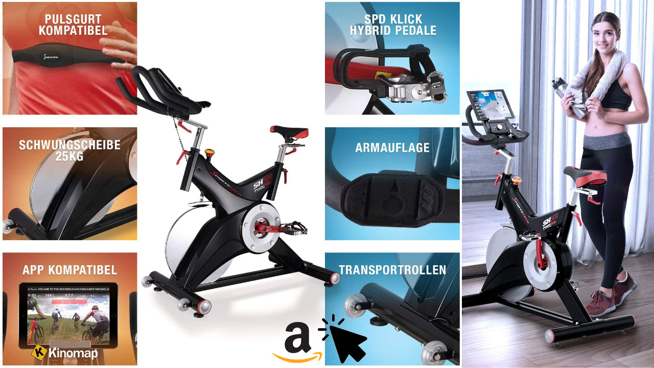 Sportstech Indoor Speedbike SX500 mit Bluetooth Video Events & Multiplayer APP