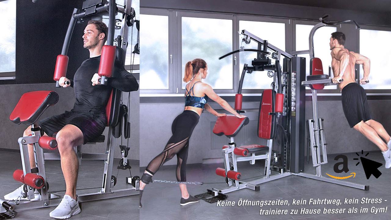 Sportstech Kraftstation HGX200 Fitnessstation mit Gewichten für Zuhause