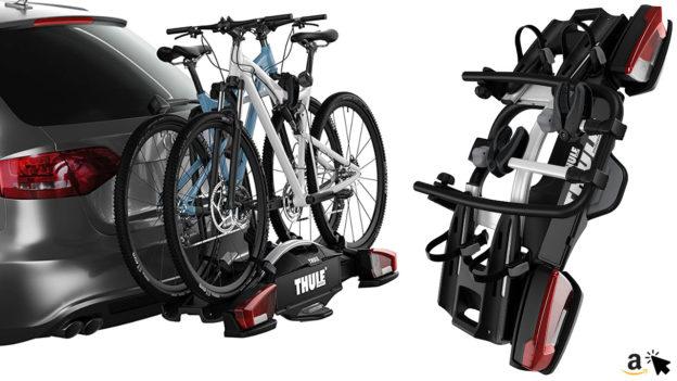 Thule 924001 HeckFahrradträger VeloCompact 924 Anhängekupplungs-Fahrradträger für 2 Fahrräder